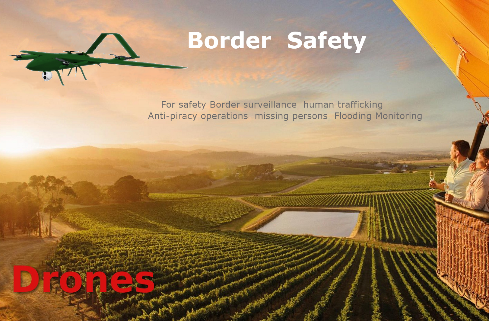 Border Safety Drones